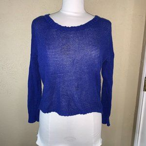 3 for $20 Open Knit Long sleeve Sweater Blue Small